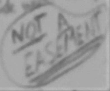 not a easement